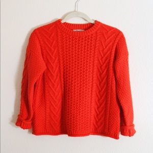 Madewell cable knit pull over sweater ❤️